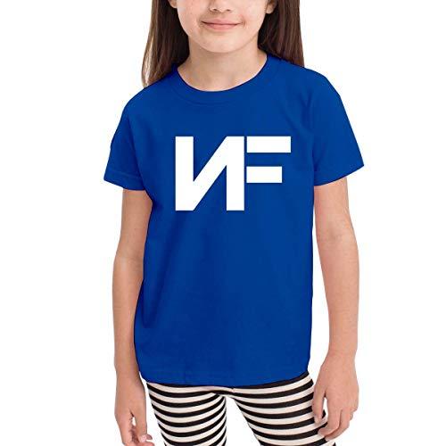 Kinder Jungen Mädchen Shirts NF Rapper T Shirt Kurzarm T-Shirt Für Tollder Jungen Mädchen Baumwolle Sommer Kleidung Blau 4 T -