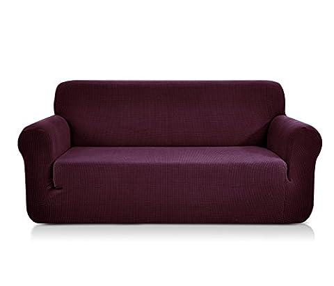 CHUN YI Jacquard Sofa Covers 1-Piece Polyester Spandex Fabric Stretch