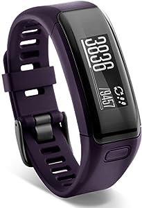 Garmin vívosmart HR Fitness-Tracker - integrierte Herzfrequenzmessung am Handgelenk, Smart Notifications, Purple, Gr.Regular