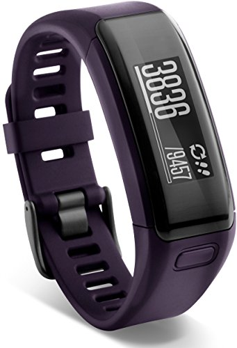 Garmin vívosmart HR Fitness-Tracker - integrierte Herzfrequenzmessung am Handgelenk, Smart Notifications, Purple, M - L (13,7-18,8 cm)