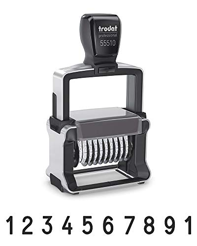 Trodat PROFESSIONAL numeri timbro-Quadrante 5551010nastri, 5mm, altezza caratteri