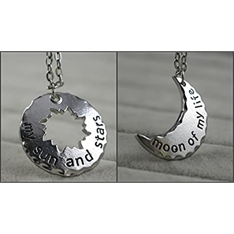 Couple Necklace My Sun and Stars/moon of My Life Khal & Khaleesi Pandant 2pcs- A Song of Ice and Fire by Charm