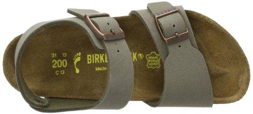 Birkenstock New York, Unisex-Kinder Sandalen, Grau (stone), 36 EU -