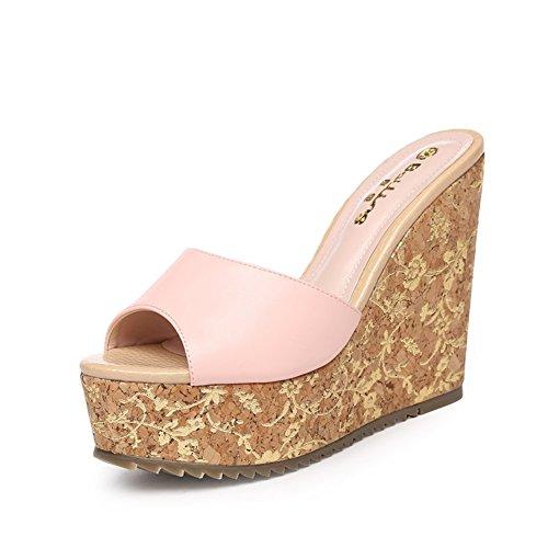 Estate scarpe di moda/ pendio con impermeabili Sandali e ciabatte/Dolce flip infradito scarpe con piccolo bosco C