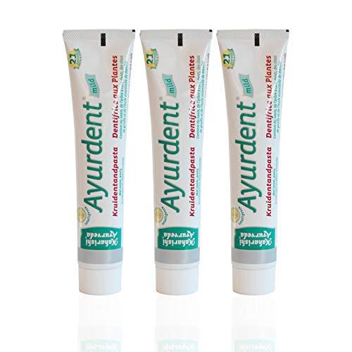 äuter Zahncreme Mild (3 x 75 ml), milder Kräutergeschmack, Bio Zahnpasta, Vegan, Fluoridfrei, Naturkosmetik ()