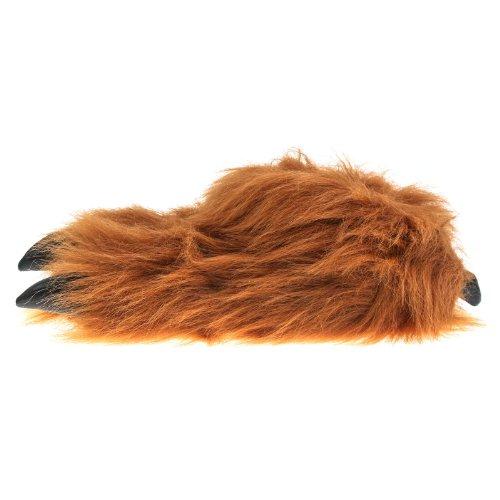 Di Sam di casa artiglio Monster artiglio viennagold pelose scarpe. Marrone (marrone)