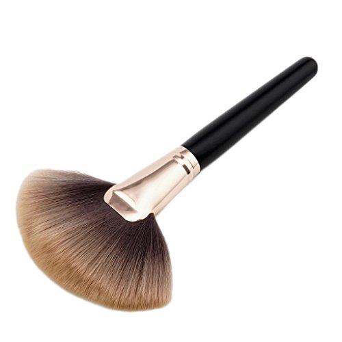 Baosity Fan Brush, weiche und dicke Bürste Fächerpinsel Highlighter Puder Pinsel Foundation Brush...