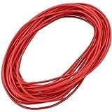 Alambre de silicona DealMux 8M 24 AWG 3KV eléctrico núcleo de cobre flexible Cable rojo para RC