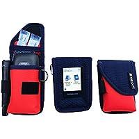 Schutzhülle für Blutzuckermessgerät Freestyle Libre Modell Smart' Access MABOX–Marineblau/Orange preisvergleich bei billige-tabletten.eu