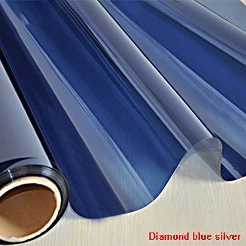 HANSHAN Fensterfolien Blickschutzfolie Einweg, Wärmesteuerung Sonnenschutzfolie Anti-UV-Tönung Statische Spiegelfolien for Privathaushalte Haften 5 STK (Size : 39inch × 3feet)