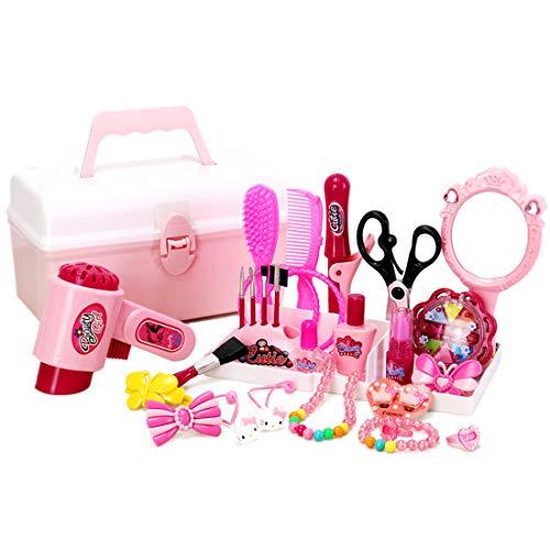 Winni43Julian Makeup Zubehör Set - 31 Stück Kinderschminkset - Mädchen Spielzeug Set - Schminkspielzeug für Mädchen