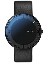Nova Titan Botta-Design - reloj de pulsera reloj de la mano, colour gris, Esfera Negra, All Colour negro, correa de cuero