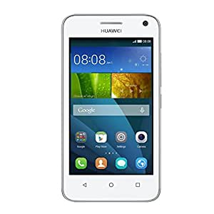 Huawei Y3 Smartphone, Display 4 Pollici IPS, Processore 1,3 GHz Quad-Core, Fotocamera 5 MP, Memoria 4 GB, Android 4.4, Bianco
