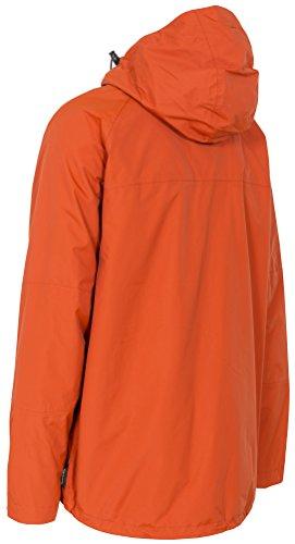 Trespass Men's Corvo Waterproof Jacket, Burnt Orange, Medium