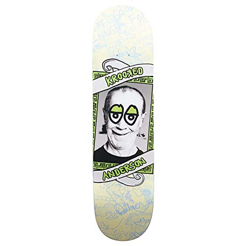 Krooked Skateboards-Deck P-Krisis3 Anderson Full - 8.25 Inch Cream (One Size, Grun)