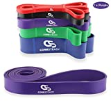 Coresteady Resistance Band - Assisted Pull Up Band - Exercise Workout Bands for CrossFit - Powerlifting - Yoga - Stretch Mobility for Men and Women (PURPLE/MEDIUM)