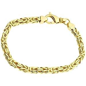 .iced-out. Sterling 925er Silber Königsarmband – BYZANTIN 6x6mm Gold