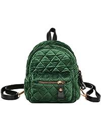 Kawei 2018 Inverno Donne Mini Plaid Zaino Pelle Daypack Personalizzati  Laptop Bag Semplice Antifurto Zaino Velluto e522c0340dc