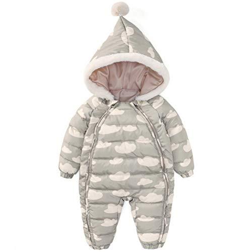 ARAUS Tuta da Neve Snowsuit con Cappuccio da Neonata Piumino Calda Pagliaccetto Bambina Zip up Inverno 0-36 Mesi