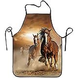 Wilde Kastanien Pferde verstellbare Schürze zum Grillen Speck Lady Men 's großes Geschenk für Frau Damen Männer Freund