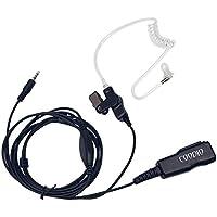 Coodio 3,5mm Cuffia 2-Pin Superiore Microfono con Auricolare [Tubo Acustico] Headset la Sicurezza e Bodyguard (Tactical Air Controllo)