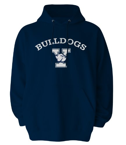 NCAA Kapuzensweatshirt Gildan, offizielles Lizenzprodukt, Herren, Navy, Medium Bulldogs Fleece-sweatshirt