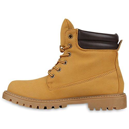UNISEX Damen Herren Warm Gefütterte Damen Worker Boots Stiefeletten Outdoor Hellbraun Gelb