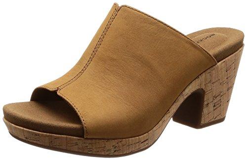 Rockport Damen Clogs & Pantoletten Braun Braun, Braun - Braun - Größe: 38 EU (Leder-clogs Rockport)