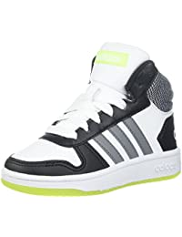 separation shoes cd330 70783 adidas Kids Hoops Mid 2.0, WhiteGrey ThreeCore Black, 4.5