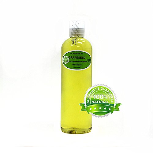 Grapeseed Oil Pure Organic Care 12 Oz
