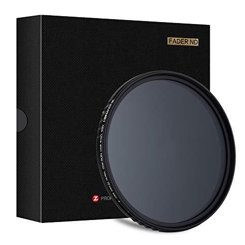 ZOMEi 72mm Premium Variabler ND Filter 72 mm ∙ ND2 zu ND400 Graufilter für Landschaftsfotografie und Architektur Aufnahmen + Mikrofaserreinigungstuch