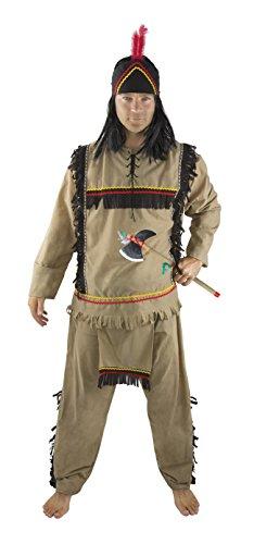 P' tit Clown–86136–Costume adulto lusso indiano–Taglia L/XL