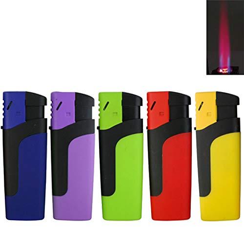 Bulentini Sturmfeuerzeug MOSA Turbo Feuerzeug 5 Farben Jet Flame Torch Gas Lighter (1x (5 Feuerzeuge))