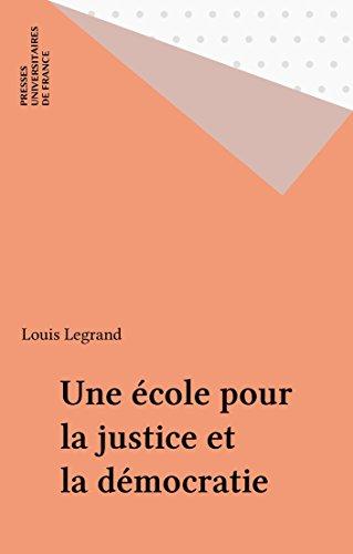 Une école pour la justice et la démocratie