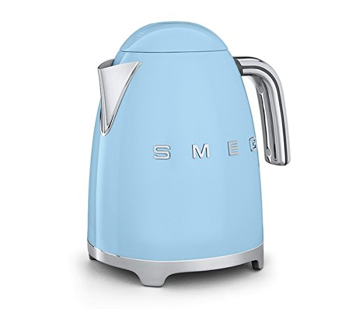 Smeg TSF02PBUK KLF01PBUK   50s Retro Style 4 Slice Toaster & Kettle Set in Pastel Blue
