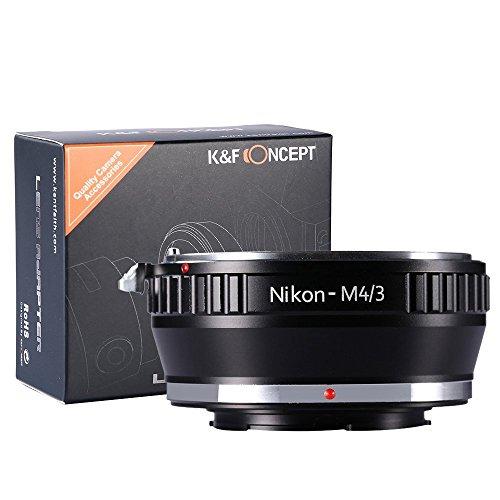 K&F Concept Adaptador de Lente para la Lente Nikon AI a Micro 4/3 M4/3 Mount, para GF1 GF2 GF3 G2 G3
