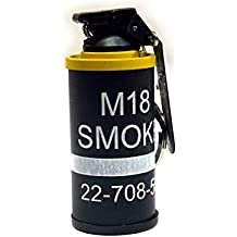 HOOSS SH-822 Smoke Grenade AN-M18 Flint Torch Gas Lighter (Black/Yellow) L002Y