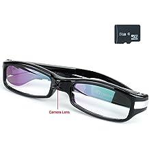 TEKMAGIC 8GB 1280x720P HD Gafas con Cámara Espía Usable Videocámara Grabador de Vídeo Portátil Mini DV