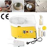 InLoveArts Ceramica 25 Centimetri Macchina per la formatura di ceramiche 350W Ceramica elettrica con Pedale Indipendente Strumento di Argilla Fai-da-Te con Vassoio per lavori in Ceramica