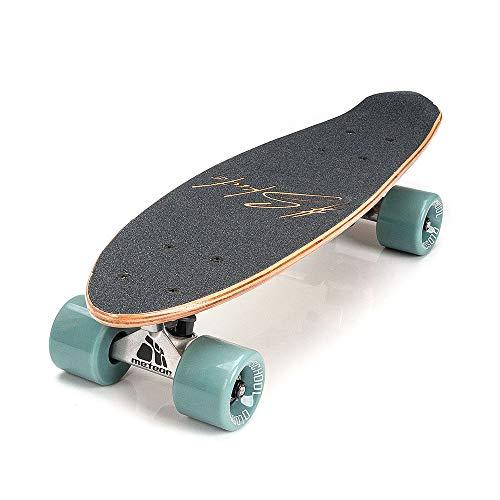 meteor Holz Skateboard Kinder - Mini Cruiser Kickboard - Skateboard mädchen Rollen Board - hohe Qualität OLD SCHOOL Skateboards Holz Deck - Retro Skateboard Jungen - Kinder ab 3 Jahre mini-board (SUMMER SUNSET)