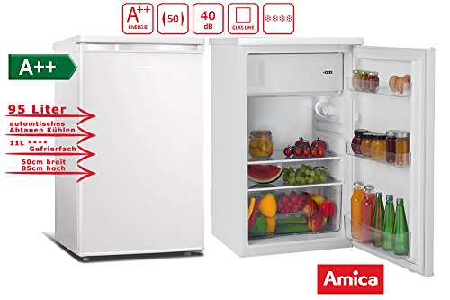Amica KS 15413 W Kühlschrank/A++ /Kühlteil84 liters /Gefrierteil11 liters