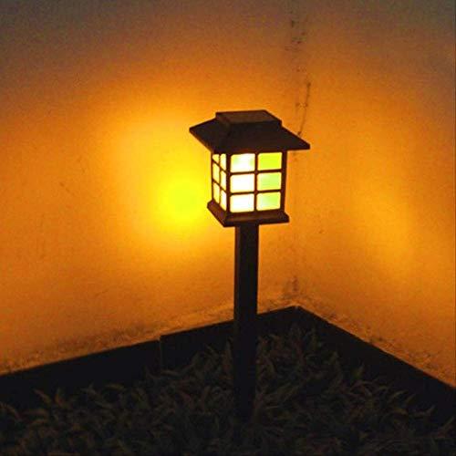 XYQY Solar Pathway Lichter Outdoor LED Solar powered Garten Lichter für Rasen, Patio, Hof, Gehweg, Einfahrt (weiß, warm weiß, bunt) 6pcs Warm White