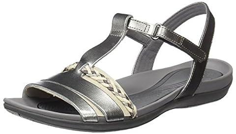 Clarks Tealite Grace, Women's Open Toe Sandals, Grey (Silver Leather), 5 UK (38 EU)