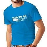 lepni.me N4225 Camiseta Papá a ser - la carga (Medium Azul Blanco)