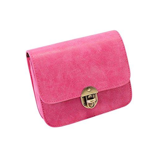 Borsa del tempo libero, moda donna in pelle borsa crossbody spalla pacchetto di Kangrunmy Rosa