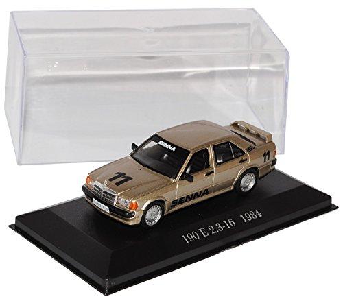 Preisvergleich Produktbild Mercedes-Benz C-Klasse 190E W201 Senna Edition 2.3-16 Gold Beige 1982-1993 Inkl Zeitschrift Nr 78 1/43 Ixo Modell Auto mit individiuellem Wunschkennzeichen