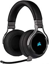 Corsair Virtuoso RGB Wireless Alta Fedeltà Cuffia Gaming, 7.1 Surround Audio, Compatibili con PC, Xbox One, PS4, Nintendo Switch e dispositivi Mobile, Nero