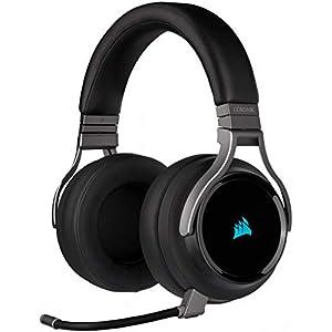 Corsair Virtuoso RGB Wireless High Fidelity Gaming Headset (7.1 Surround Sound, Omnidirektionalen Mikrofon mit PC, Xbox One, PS4, Switch und Mobilgeräte Kompatibilität)