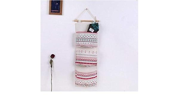 Saint Kaiko Tissu Sac de Rangements a Suspendre Sac Organisateur Suspendu Sac Mural Panier Suspendu Tissu Panier Pochette de Rangement Suspendu Mur portes 12 Sac Muraux Organisateur Pour le maquillage