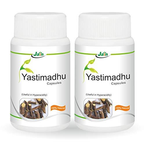 Jain Yastimadhu Capsules - 60 Count (Pack of 2)
